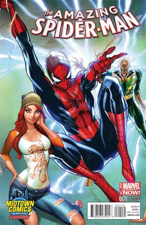 Amazing Spider-Man Vol 3 #1 Cover B Midtown Exclusive J Scott Campbell Connecting Color Variant Cover (2 of 3)