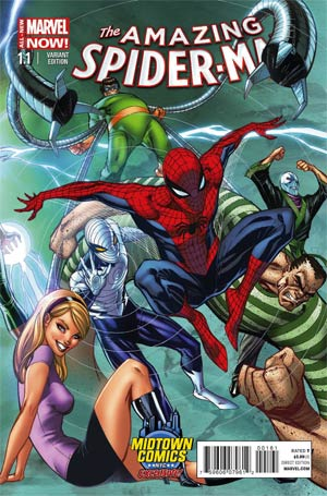 Amazing Spider-Man Vol 3 #1.1 Cover B Midtown Exclusive J Scott Campbell Connecting Color Variant Cover (3 of 3)