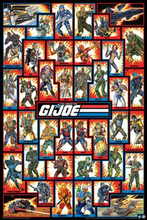 GI Joe Cast 25x13 Wall Poster