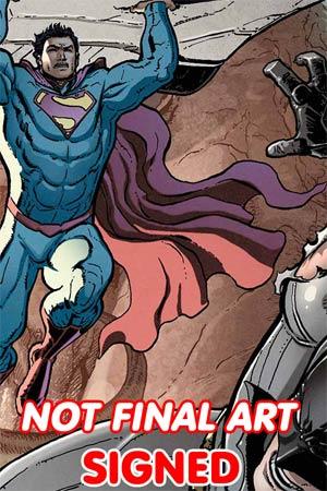 Batman Superman Futures End #1 Cover C 3D Motion Cover Signed By Greg Pak