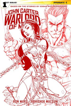 John Carter Warlord Of Mars Vol 2 #1 Cover P Rare J Scott Campbell Martian Red Cover