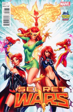 Secret Wars #9 Cover B Midtown Exclusive J Scott Campbell Variant Cover