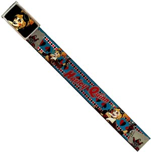 DC Comics 1.5-Inch Web Belt Full Color Buckle - Harley Quinn Bombshell