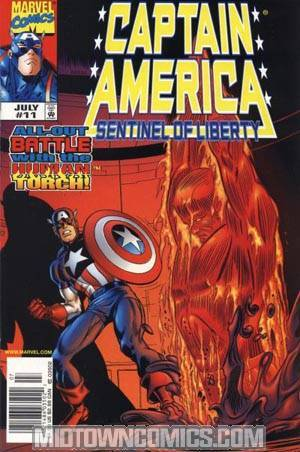 Captain America Sentinel Of Liberty #11 With Cards