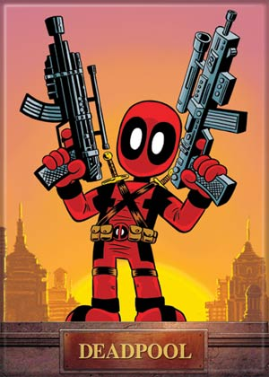 Marvel Comics 2.5x3.5-inch Magnet - Deadpool Mini With Guns (71855MV)