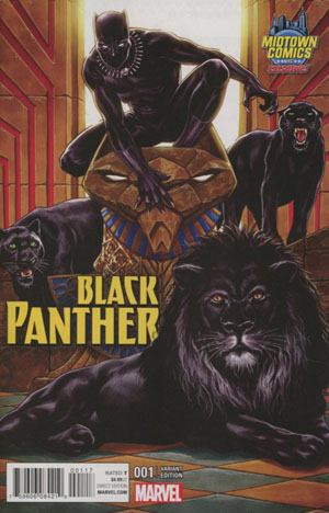 Black Panther Vol 6 #1 Cover B Midtown Exclusive Mark Brooks Variant Cover