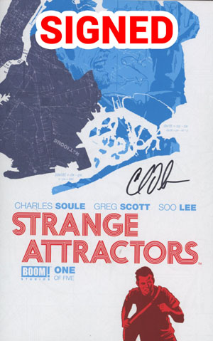 Strange Attractors #1 Cover C Regular Scott Newman Cover Signed By Charles Soule
