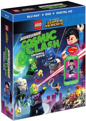 Lego DC Comics Super Heroe Justice League With Figurine Blu-ray DVD