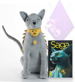 Saga Lying Cat Talking Plushy Doll By Fiona Staples & Brian K Vaughan