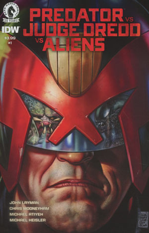 Predator vs Judge Dredd vs Aliens #1 Cover A Regular Glenn Fabry Color Cover