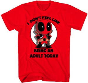 Deadpool Adults Only Red T-Shirt Large