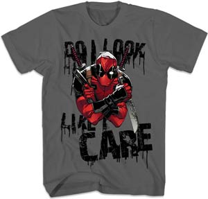 Deadpool Care Look Charcoal T-Shirt Large