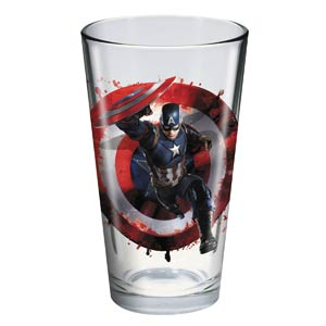 Toon Tumblers Captain America Civil War Pint Glass - Black Panther