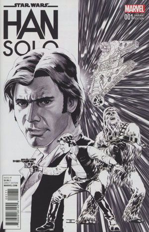 Star Wars Han Solo #1 Cover H Incentive John Cassaday Sketch Variant Cover
