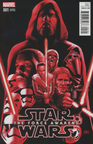 Star Wars Episode VII The Force Awakens Adaptation #1 Cover E Incentive John Cassaday Color Variant Cover