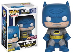 POP Heroes 111 Batman The Dark Knight Returns Batman Blue Costume Previews Exclusive Vinyl Figure