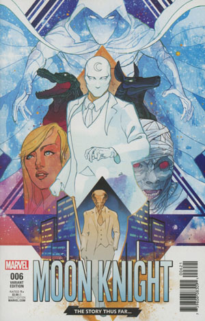 Moon Knight Vol 8 #6 Cover B Variant Christian Ward Story Thus Far Cover