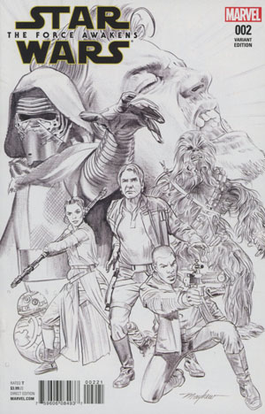 Star Wars Episode VII The Force Awakens Adaptation #2 Cover D Incentive Mike Mayhew Sketch Cover