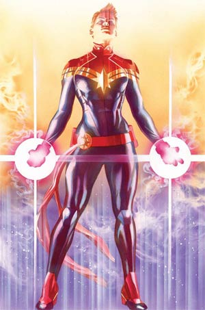 Captain Marvel Variant Cover By Alex Ross Poster