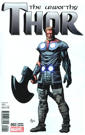 Unworthy Thor #2 Cover B Incentive Mike Deodato Jr Teaser Variant Cover
