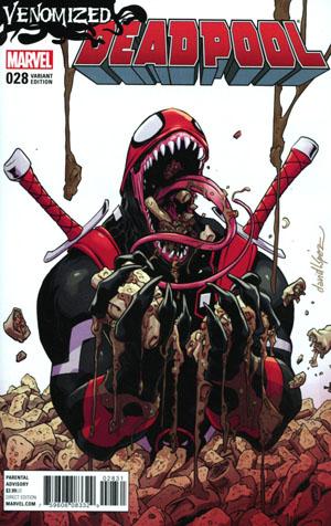 Deadpool Vol 5 #28 Cover C Variant David Lopez Venomized Cover (Til Death Do Us Part 1)