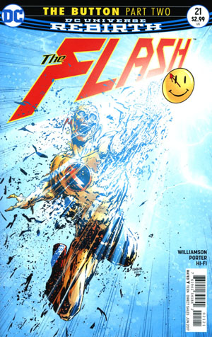 Flash Vol 5 #21 Cover B Variant Jason Fabok Non-Lenticular Cover (The Button Part 2)