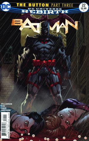 Batman Vol 3 #22 Cover B Variant Jason Fabok Non-Lenticular Cover (The Button Part 3)