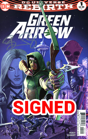 Green Arrow Vol 7 #1 Cover D 2nd Ptg Variant Juan Ferreyra Cover Signed By Benjamin Percy