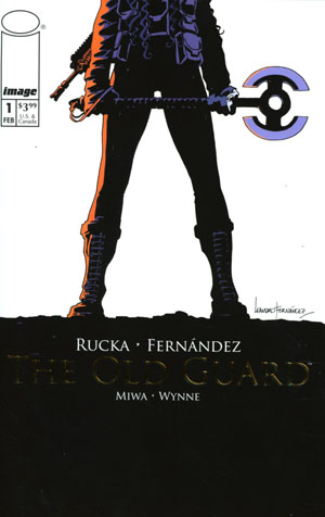 Old Guard #1 Cover B Incentive Retailer Appreciation Gold Foil Variant Cover