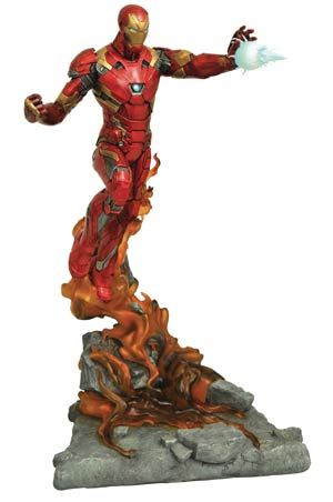 Marvel Milestones Captain America Civil War Movie Iron Man Statue