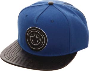 Marvel Captain America Carbon Fiber Snapback Hat