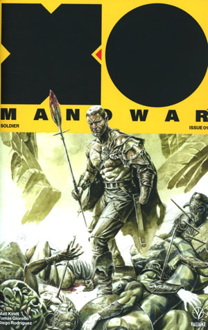 X-O Manowar Vol 4 #1 Cover E Incentive JG Jones X-O Manowar Icon Variant Cover