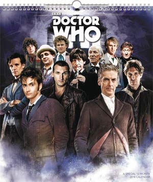 Doctor Who 2018 13x15-inch Wall Calendar