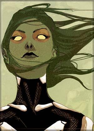 Marvel Comics 2.5x3.5-inch Magnet - Guardians Of The Galaxy Gamora On Green (72518MV)