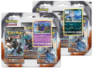 Pokemon TCG Sun & Moon Burning Shadows Three Booster Blister Box