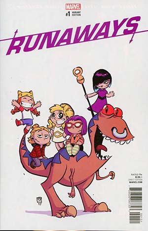 Runaways Vol 5 #1 Cover B Variant Skottie Young Baby Cover