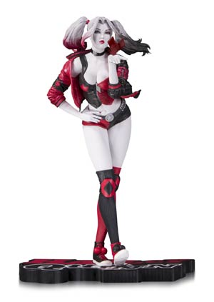 Harley Quinn Red White And Black Statue By Stanley Artgerm Lau