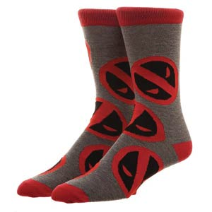 Marvel Deadpool Large All-Over-Print Crew Socks