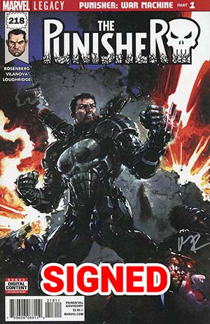 Punisher Vol 10 #218 Cover F Regular Clayton Crain Cover Signed By Matthew Rosenberg (Marvel Legacy Tie-In)