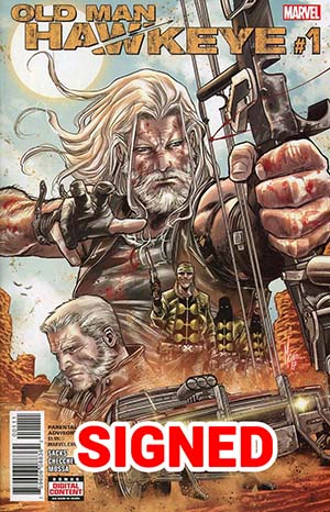 Old Man Hawkeye #1 Cover H Regular Marco Checchetto Cover Signed By Ethan Sacks (Marvel Legacy Tie-In)