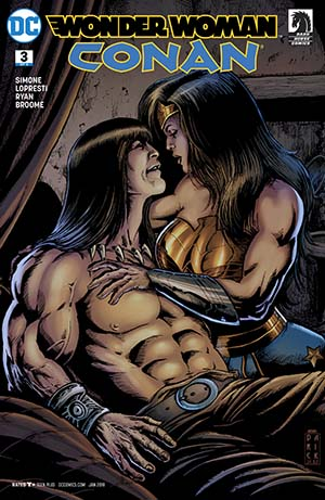 Wonder Woman Conan #3 Cover A Regular Darick Robertson Cover