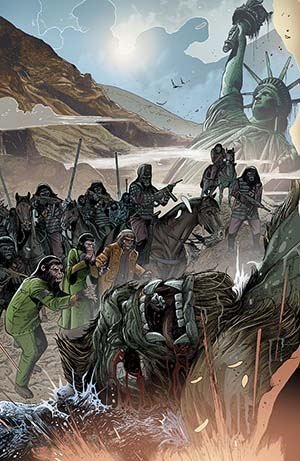 Kong On The Planet Of The Apes #1 Cover B Variant Carlos Magno Connecting Cover