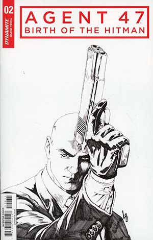 Agent 47 Birth Of The Hitman #2 Cover C Incentive Jonathan Lau Black & White Cover