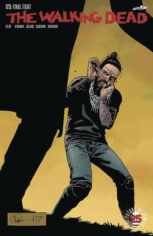 Walking Dead #173 Cover C DF Blood Red Signature Series Signed By Stefano Gaudiano