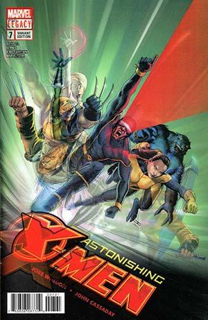 Astonishing X-Men Vol 4 #7 Cover B Variant John Cassaday Lenticular Homage Cover (Marvel Legacy Tie-In)