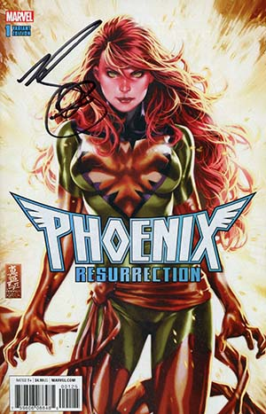 Phoenix Resurrection Return Of (Adult) Jean Grey #1 Cover M DF Signed By Mark Brooks