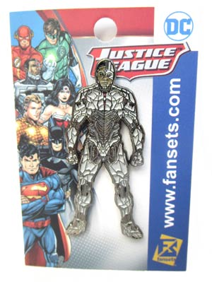 Justice League Movie Enamel Pin - Cyborg
