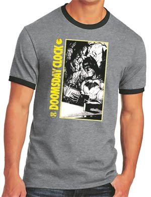 Batman Doomsday Clock Ringer T-Shirt Large
