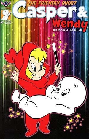 Casper And Wendy #1 Cover D Incentive Retro Animation Variant Cover