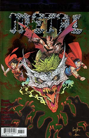 Dark Nights Metal #6 Cover A Regular Greg Capullo & Jonathan Glapion Foil-Stamped Cover